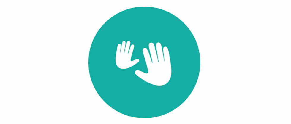 newborn massage hands icon